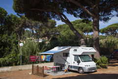 Camper nel sud della Francia Fotografie Stock Libere da Diritti