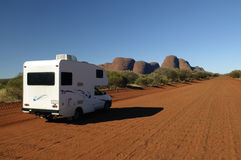 Camper and Olgas royalty free stock images