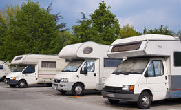 Camper park. For a comfortable holiday Stock Photos