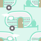 Camper Pattern. A fun camper pattern with retro style travel trailers Royalty Free Stock Images