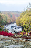 Camper road in Acadia National Park in Autumn Stock Image