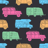 Camper Seamless Pattern Royalty Free Stock Image