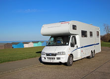 Camper tourer holiday van travel Stock Photos