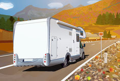 Camper traveling Royalty Free Stock Image