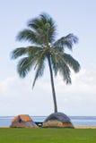 Camper tropical de tente de plage Image libre de droits