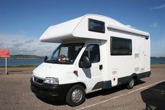 Camper van. In coastal car park Royalty Free Stock Images