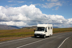 Camper van in Iceland Stock Photos