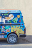Camper van. Painted by hand Royalty Free Stock Photography