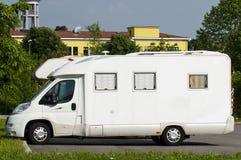 Camper van parked Stock Image