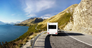 Camper Van. Parked on the road near Queenstown Stock Images