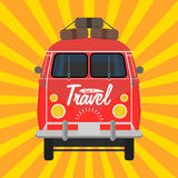 Camper van. Summer vacation. Camper van. Summer vacation Vector illustration eps 10 Stock Photography