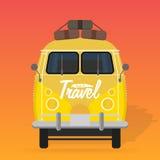Camper van. Summer vacation. Royalty Free Stock Image