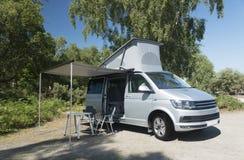 Camper Van Vacation, Holiday Destination Stock Photo