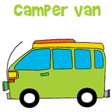 Camper van of vector illustration Stock Photography