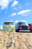 Camper vans at the beach Stock Images