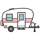 Camper A Vector Illustration Of Royalty Free