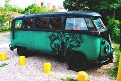 Camper verde Fotografia Stock Libera da Diritti