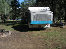 Camper in White Mountains Stock Images