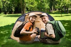 Free Campers Royalty Free Stock Photos - 9600838