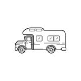 Campers cars. Vector illustration Stock Image