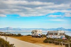 Campers on sea, 17 February 2019, Santa Pola Spain