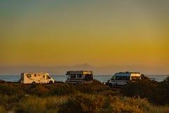 Campers on sea, 25 February 2019, Santa Pola Spain
