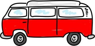 Campervan. Motorhome campervan vehicle - bus art series Royalty Free Stock Photos