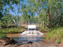 Campervan crossing river in Australia Royalty Free Stock Photo