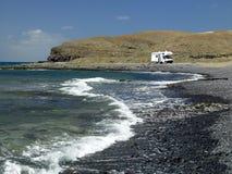 campervan kanariefågelfuerteventura öar Arkivfoton