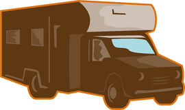 Campervan Motorhome Retro Royalty Free Stock Photography