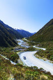 Campervan on New Zealand's South Island Royalty Free Stock Image