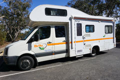 A campervan travel on the road in Sydney, Australia Royalty Free Stock Photography