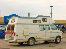 A campervan at a walmart parking lot in whitehorse Stock Photography