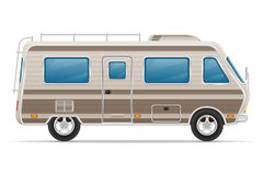 Camperwohnmobil-Vektorillustration Autovan caravan Lizenzfreie Stockfotografie