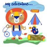 campeur illustration stock