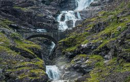 Campeur Van Trip de la Norvège Photo stock