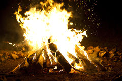 Campf fire Royalty Free Stock Images