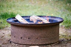 Campfire. Background Template for Business Presentations Stock Photography