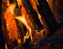 Campfire. Closeup in high resolution Stock Photography