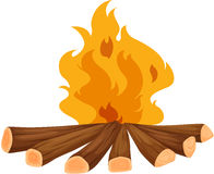 Campfire. Illustration of a campfire on white royalty free illustration