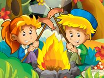 By the campfire 3 Royalty Free Stock Image