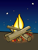 campfire Vektor Illustrationer