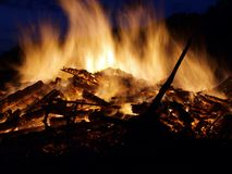 Campfire. On a summer solstice night Royalty Free Stock Photos