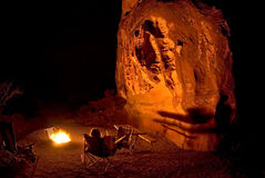 Campfire At Valley Of Fire State Park Stock Image