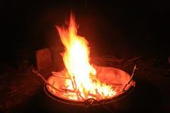 Campfire in Australia Royalty Free Stock Photo