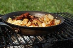 Campfire Breakfast Royalty Free Stock Photo