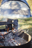 Campfire Burning Down Royalty Free Stock Photography