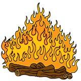 Campfire Cartoon Royalty Free Stock Image