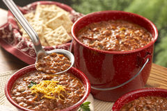 Campfire chili Royalty Free Stock Images