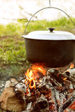 Campfire Cooking Stock Images